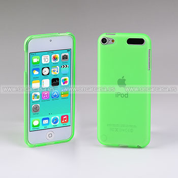 Funda apple ipod touch 5 carcasa transparente silicone verde for Housse ipod classic