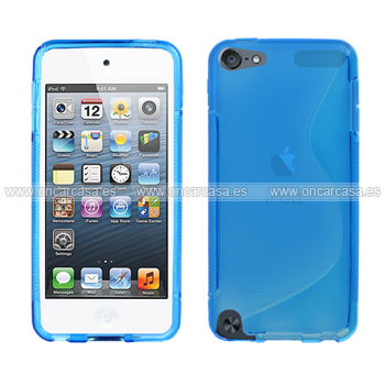 Funda apple ipod touch 5 s line silicone gel azul for Housse ipod classic