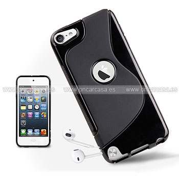 Funda apple ipod touch 5 s line silicone gel negro for Housse ipod classic