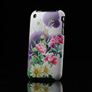 Carcasa Apple iPhone 3G 3GS Flores Plastico Funda Rigida - Purpura