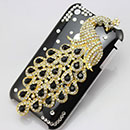 Carcasa Apple iPhone 3G Lujo Pavo Real Diamante Bling Funda Rigida - Brown