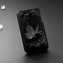 Carcasa Apple iPhone 3G Mariposa Plastico Funda Rigida - Negro