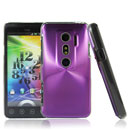 Carcasa HTC EVO 3D G17 Aluminio Metal Plated Funda Cover - Purpura