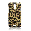 Carcasa HTC J Z321e Leopard Funda Rigida - Brown