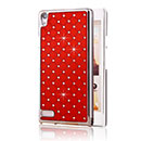 Carcasa Huawei Ascend P6 Diamante Bling Funda Rigida - Rojo