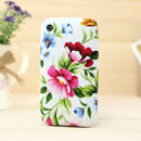 Funda Apple iPhone 3G 3GS Flores Carcasa Silicona Gel - Verde