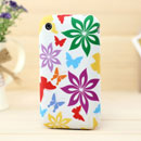 Funda Apple iPhone 3G 3GS Mariposa Carcasa Silicona Gel - Blanco
