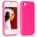 Funda Apple iPhone 4S Carcasa Gel TPU - Rosa