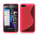 Funda Blackberry Z10 S-Line Silicone Gel - Rosado