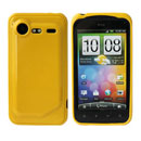Funda HTC Incredible S G11 S710e Carcasa Gel Silicone - Amarillo