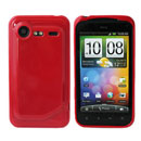 Funda HTC Incredible S G11 S710e Carcasa Gel Silicone - Rojo