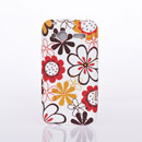 Funda HTC Radar C110e Flores Carcasa Silicona Gel - Brown