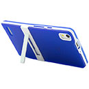 Funda Huawei Ascend P6 Holder Silicone Gel - Azul