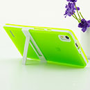 Funda Huawei Ascend P6 Holder Silicone Gel - Verde