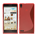 Funda HuaWei Ascend P6 S-Line Silicone Gel - Rojo