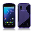 Funda LG Google Nexus 4 E960 S-Line Silicone Gel - Purpura