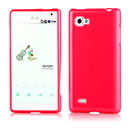 Funda LG Optimus 4X HD P880 Carcasa Gel Silicone - Rojo