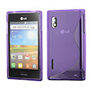 Funda LG Optimus L5 E610 S-Line Silicone Gel - Purpura