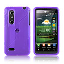 Funda LG P920 Optimus 3D S-Line Silicone Gel - Purpura