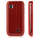 Funda Samsung S5750 Wave 575 Diamante Carcasa Gel TPU - Rojo