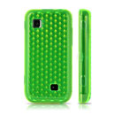 Funda Samsung S5750 Wave 575 Diamante Carcasa Gel TPU - Verde